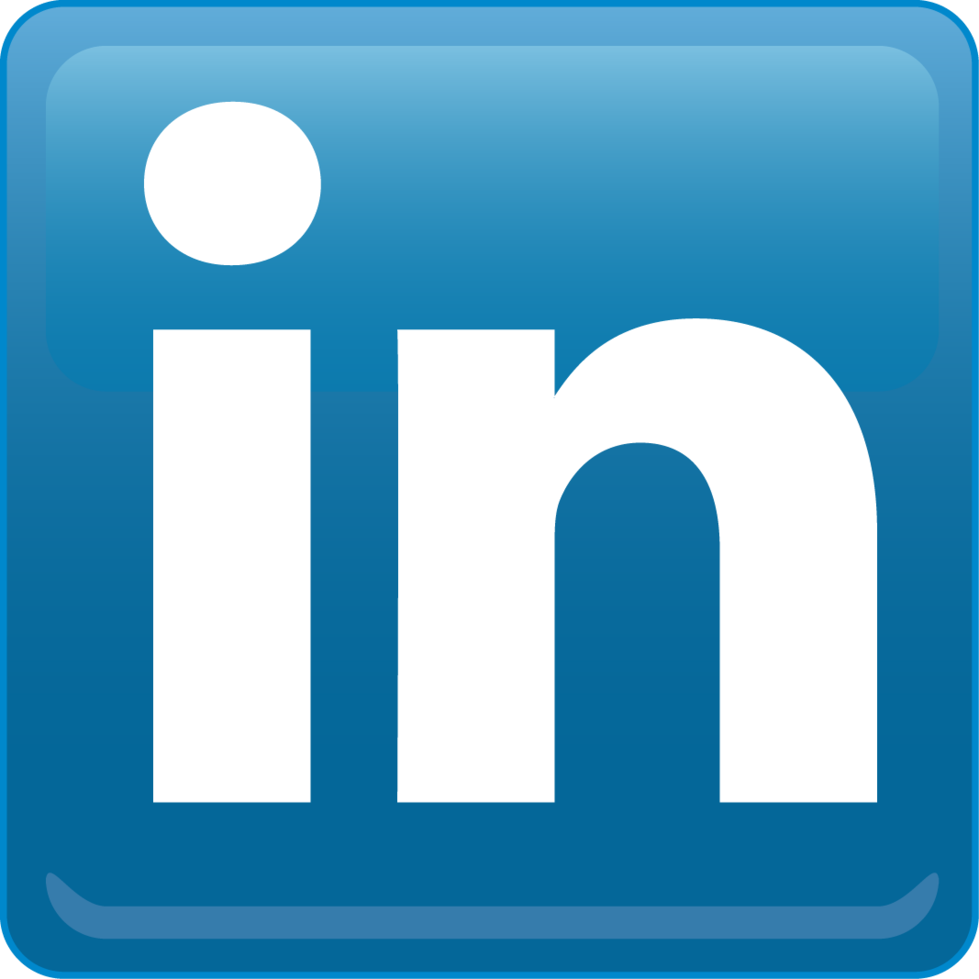 transparent Linkedin logo icon